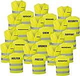 Warnweste gelb mit Text bedruckt Rückendruck + Brustdruck Sicherheitsweste EN ISO 20471 (Brandschutzhelfer)
