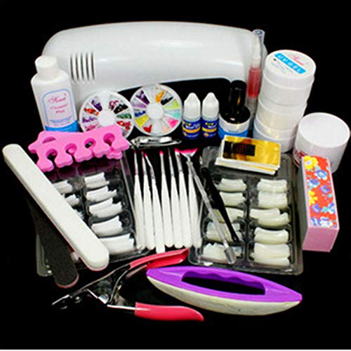Nail set nail extension gel set with LED light strip top underlayer coating water drill flash nails nail beginners set