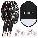 Butterfly 2 x Timo Boll SG99 + CellCase 2 + 2 paquetes de 3 pelotas G40