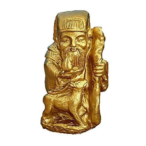 JIEZ Adornos de Feng Shui Señor de la Tierra, Dios de la Tierra de la Riqueza, Dios de la Fortuna, Dios de Dios, Mesa de Arena psicológica, Juguetes de Arena, Decoración de Juegos Dios