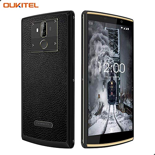 10000mAh Smartphone Unlocked, OUKITEL K7 Pro 4GB + 64GB Global 4G Smartphone 6.0 Inch, 13MP + 5MP Dual Camera Unlocked Cell Phone, MT6763 Octa Core, Dual SIM Android Smartphone, Face Unlock- Black