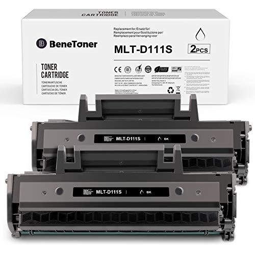 2 BeneToner MLT-D111S Toner Kompatibel für Samsung MLT-D111S MLT-D111L für Samsung Xpress M2070W M2026W M2070FW M2026 M2020 M2022 M2022W M2020W,schwarz
