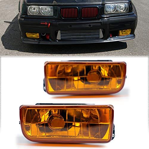 Artudatech Luces antiniebla para coche, 1 par de faros antiniebla delanteros sin bombilla para B M W 1992-1998 E36 3 Series 2/4D
