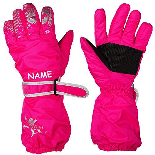alles-meine.de GmbH Fingerhandschuhe / Handschuhe - Farbe & Größenwahl - Größe - Erwachsene Gr. 8 - inkl. Name - mit langem Schaft - rosa / pink - LEICHT anzuziehen ! mit Daumen ..