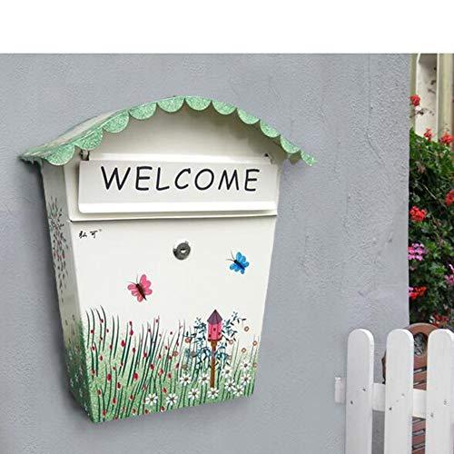 CLX Mailbox Briefkasten Stahl Mailboxes mit Befestigungsmauer Post Modern Design Schwarze Torpfosten Zeitung Glastürschloss Edelstahl,b