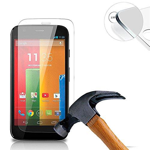 Lusee® 2 X Pack Protezione Schermo Vetro temperato per Motorola Moto G XT1032 4.5 Pollice Pellicola Vetro Protettivo Salvaschermo e Film Protettiva Ultra-Duro Vetro 9H