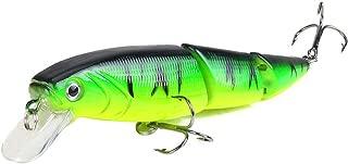 WEEFORT Green Fishing Lures Minnow Crankbaits Popper VIB Bass Baits Wobblers Set Lifelike Features Natural Fish Profile