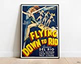 Flying Down to Rio Poster Print, Fred Astaire Movie 1933,