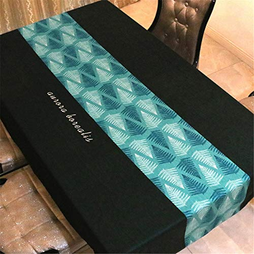 Mantel Impermeable Negro, Mantel Cuadrado, Mantel Redondo, Camino De Mesa, Hogar, Hotel, Restaurante 110x110cm