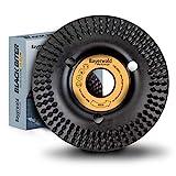 Bayerwald'Black Biter' - Raspelscheibe - Ø 115 mm x 22,2 mm | schnelles, grobes Abschleifen von Holz & Holzwerkstoffen | für Winkelschleifer
