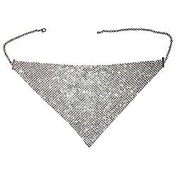 Silver Rhinestone Masquerade Mask Necklace Jewelry
