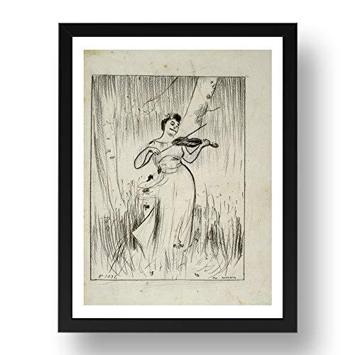 Period Prints Ramon Casas, artista catalán, Josep Maria Tamburini - Marco de fotos (8 x 15 cm), color negro