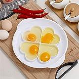 BOBOA Egg Microwave Poacher Steamed Egg Set Steamed Poached Egg Gadget Egg Mold Heart Shape Steamed Eggs 4 Eggs