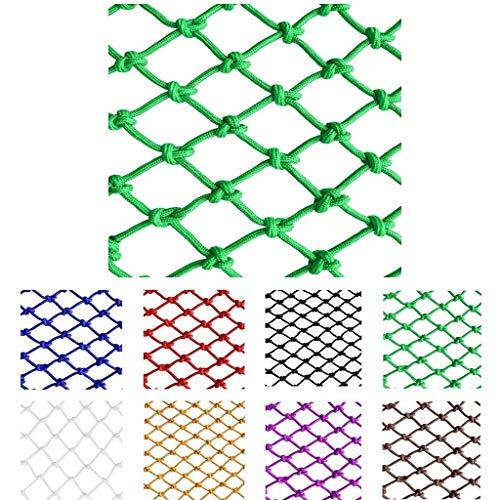 Grünes Schutznetz Seilnetz, Kletterschutznetz aus Nylon im Freien, Hochbett for Kinder, Balkon, Anti-Fall-Netz (6 mm Seil, 8 cm Loch) (Farbe: Grün) (Size : 1 * 1m)