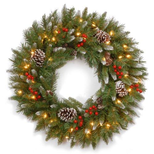 National Tree Company Pre-lit Artificial Christmas Wreath |...