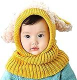 Golden Apple Bonnet d'hiver chaud avec cache-oreilles pour bébé de 6 à 36 mois - Jaune - 0.5-3 Ans