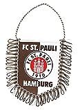 FC St. Pauli Auto Wimpel Logo Banner, Autobanner, Autowimpel - Plus Aufkleber Fans gegen Rechts -