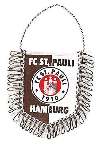 FC St. Pauli Auto Wimpel Logo Banner, Autobanner, Autowimpel - Plus Aufkleber Fans gegen Rechts