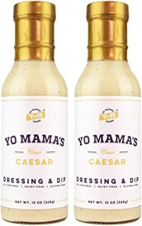 Yo Mama's Keto Friendly Caesar Salad Dressing – (2) Bottles