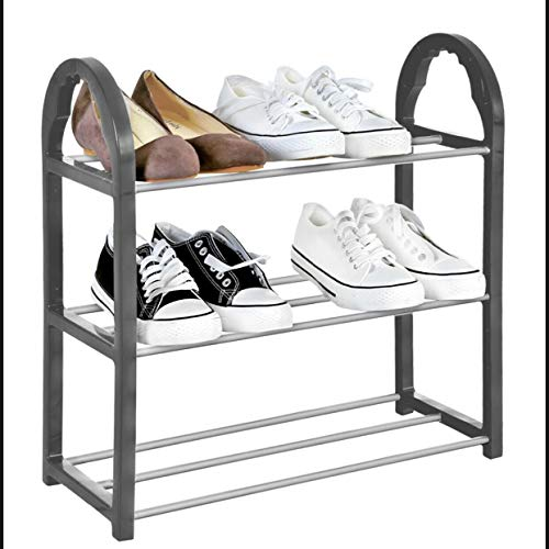 ZYBUX - Shoe Rack Organiser, Quick Assembly No Tools Required (3 Tier)