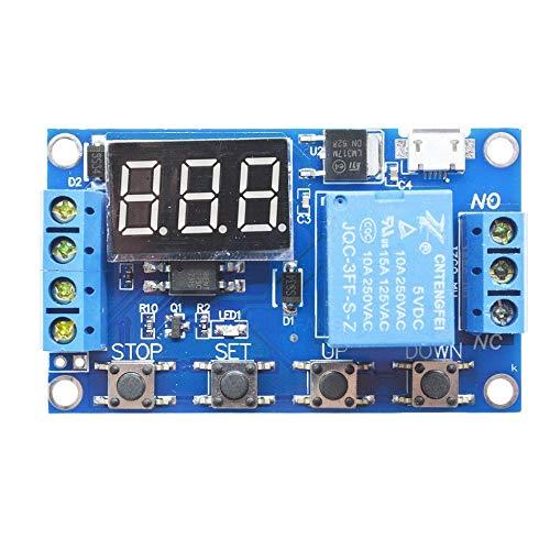 Módulo de relé de 1 canal Tarjeta de interfaz Optoacoplador de disparo de bajo nivel para Arduino SCM PLC Interruptor de control remoto inteligente para el hogar - Azul