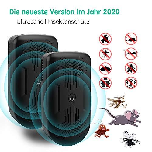AONBYS Ultraschall Schädlingsbekämpfer[2er-Pack], Haustierfreundlich Ultraschall mit Elektromagnetische Vertreiber gegen Ratten, Mäuse, Spinnen, Ameisen und Kakerlaken für das ganze Haus