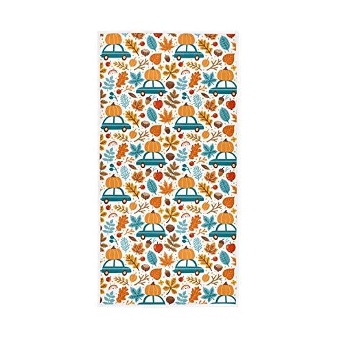 LUCKYEAH - Toallas de mano de algodón con diseño de calabazas para niñas, mujeres, niños, toallas de mano suaves y absorbentes para el hogar, hotel, piscina, gimnasio, 76 x 38 cm