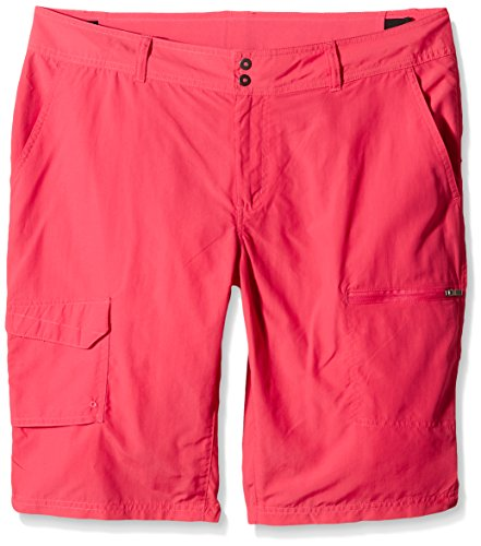 Columbia - silver ridge cargo - short - Femme - Rose (Bright Geranium) - FR: 42/ Inseam: 10