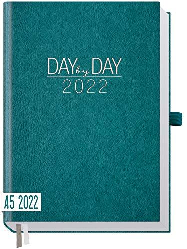 Chäff Organizer Day by Day 2022 A5 [Petrol] 1 Tag 1 Seite | Hardcover Tageskalender 2022 A5, Tagesplaner, Terminkalender, Terminplaner, Kalender | nachhaltig & klimaneutral