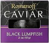 Romanoff Caviar, Black Lumpfish, 2 Oz., (Pack of 3)