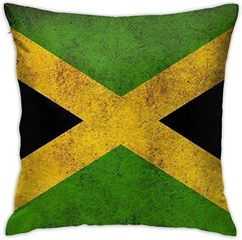 qidong Jamaican Flag Throw Funda de cojín decorativa Home Decor Square 18 x 18 pulgadas Pilloase