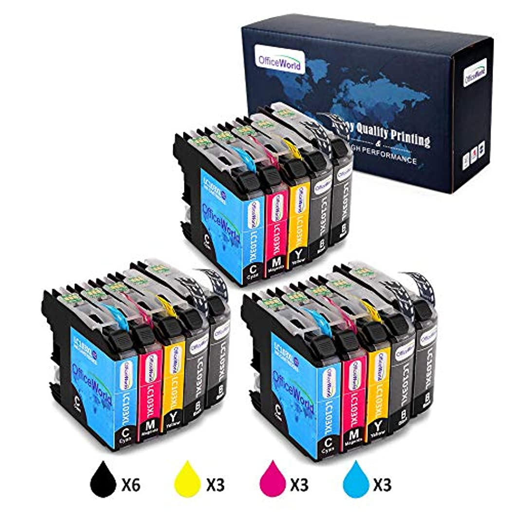 Office World 15 Pack LC103 LC103XL Compatible Ink Cartridge Replacement for Brother LC103 103XL LC103XL LC103BK LC103C LC103M LC103Y to use with Brother MFC-J870DW, MFC-J450DW, MFC-J6920DW, MFC-J470DW