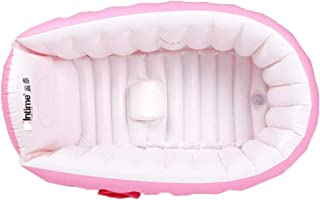 CUTICATE ベビーインフレータブルバスタブ ポータブル ノンスリップトラベル シャワーベイスン お風呂水槽 - ピンク