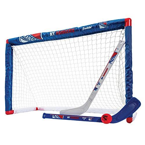 Franklin Sports NHL Team Lizenzprodukt Knie-Hockey-Set–inkl. 2Mini Hockey Sticks und One Schaum Mini Hockey Ball, Unisex, New York Rangers