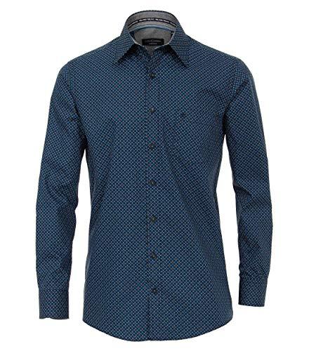 CASAMODA Freizeithemden Print Comfort Fit Aquadunkelblau XL