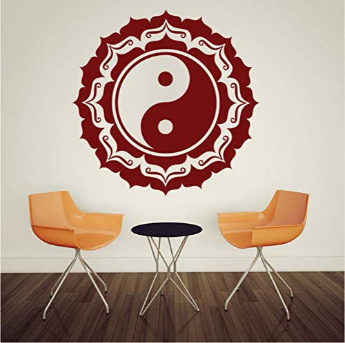 Ponana Removable Wall Decals Mandala Buddha Vinyl Mural Bedroom Wall Stickers Hot Yin Yang Wallpaper 61X61Cm
