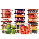 Recipientes Plastico para Alimentos Almacenaje Cocina con Tapas Multicolor | Set de 20 Piezas x 400 ml | Sin BPA | Tapers para Comida Hermetico | Lunch Box | Fiambrera | Organizador Frigorifico |