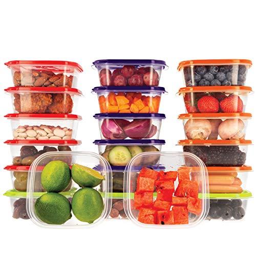 Oursson, Set di Contenitori Alimentari Ermetici Salvafreschezza in plastica Senza BPA, con Coperchio Multicolore, CP10081S/MC (20 x 400 ml, Multicolore)