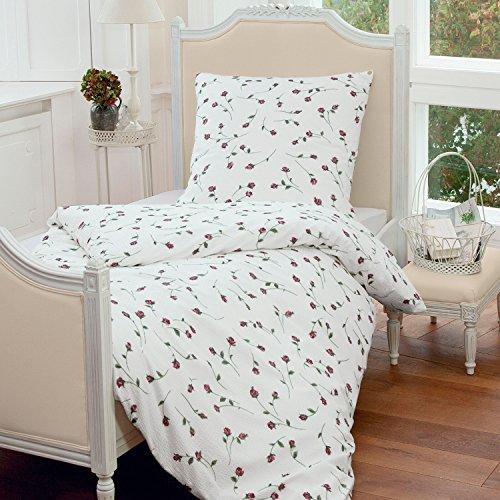 Janine Design Seersucker Bettwäsche Tango rosa 1 Bettbezug 135x200 cm + 1 Kissenbezug 80x80 cm