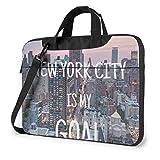 Custodia per laptop, borsa per notebook a tracolla New York City da 15,6 pollici