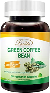 Sponsored Ad - Lovita Green Coffee Bean Extract 1600mg, 4:1 Extract with 50% Chlorogenic Acids, 60 Vegetarian Capsules (2 ...
