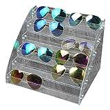 Fdit Organizador para Gafas de Sol Acrílico Vitrina para exposición A más Capas