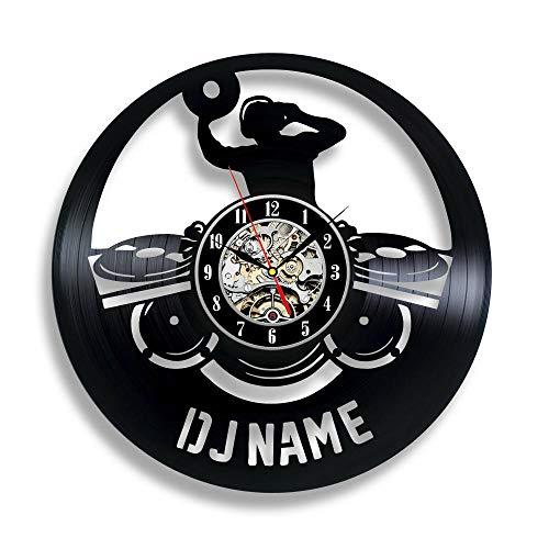 Orologio da parete personalizzato in vinile DJ Regalo arredamento da studi