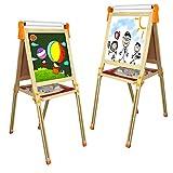 Fajiabao Pizarra Infantil Magnetica Caballete Pintura Niños -3 en 1 Doble y Ajustable Pizarra...