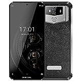 (2019) OUKITEL K12 Android 9.0 Smartphone Portable Débloqué avec Batterie Massif de 10000mAh, écran Waterdrop FHD+ 6.3 Pouces, processeur Helio P35 Octa-Core 6 Go + 64 Go,Conception en Cuir + Metal