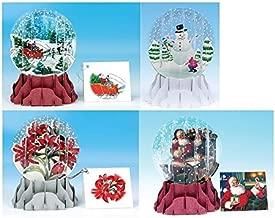 3D Pop-Up Card Snow Globe - Christmas Assortment 2A- Set of 4 Cards
