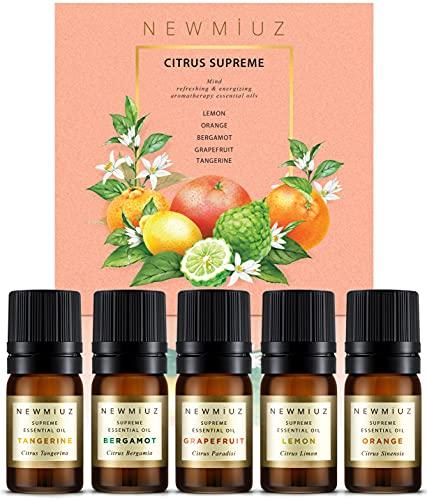 New Miuz Citrus Essential Oils, USA Made Gift Set,...