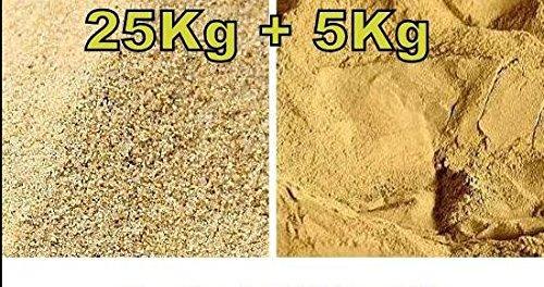 30 kg Fertig Mix bestehend aus 25 kg Terrarium Sand hochrein und 5 kg Lehmpulver, Naturlehm