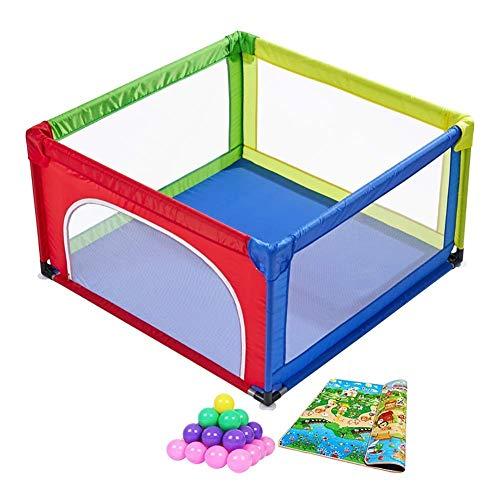 ZPLHX Playpen 70cm Tall Baby Playpen con colchones y Bolas, Anti-Rollover Diviadores de la habitación para el Centro de ActitAidad, Cerca de Juegos para niños para mamá y bebé (Color : Colorful)