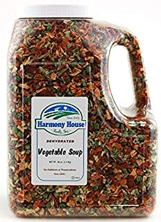 Harmony House Premium Vegetable Soup Mix - Dehydrated Vegetables for Cooking, Camping, Emergency Supply and More (42 oz, G...